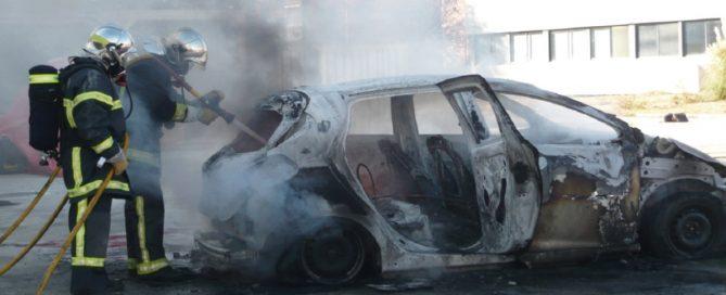 Incendie véhicule électrique