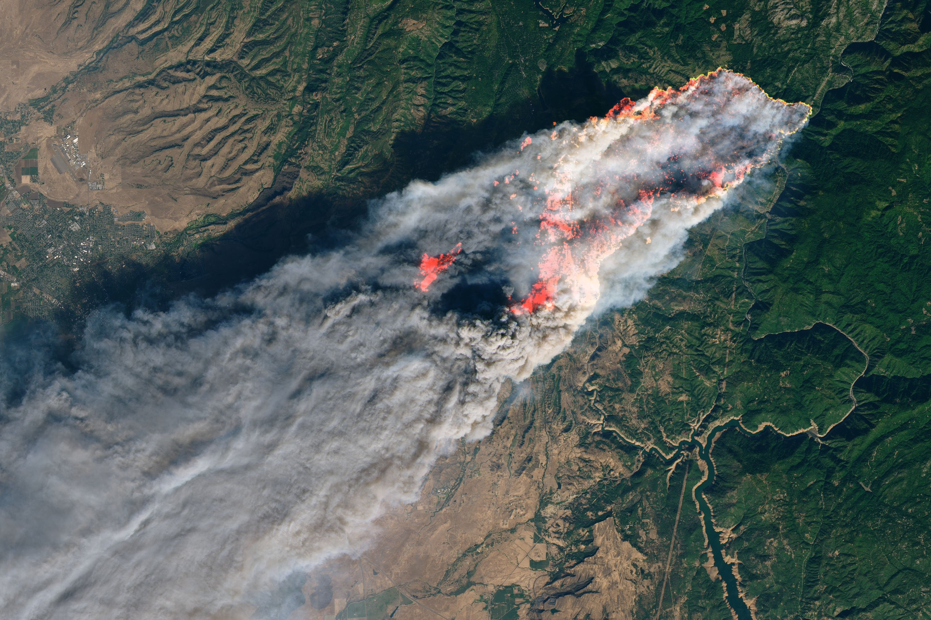 Camp Fire Rages in California 8.11.18 NASA