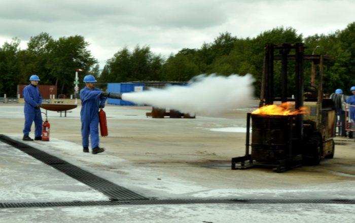 Formation incendie. Photo : V. Dobigny