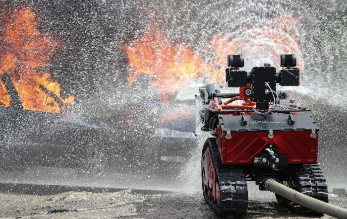 Sécurité sur intervention : la BSPP mise sur les vecteurs télé-opérés (photo BSPP)