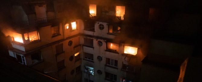 L'incendie rue Erlanger rallonge la liste des incendies volontaires meurtriers à Paris (Photo B.Moser BSPP)