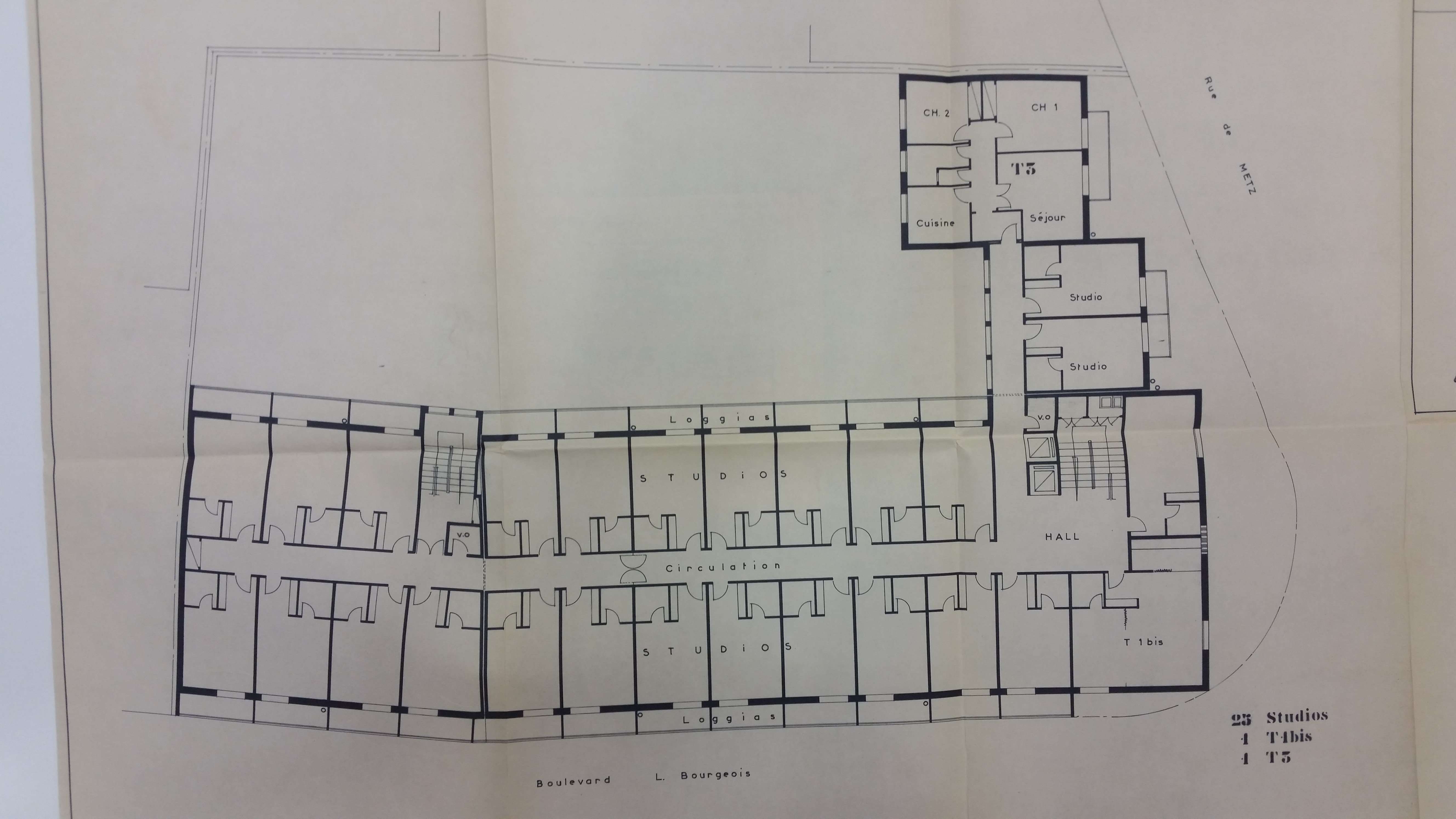 Plan étage courant du bâtiment (Image Sdis du Tarn)