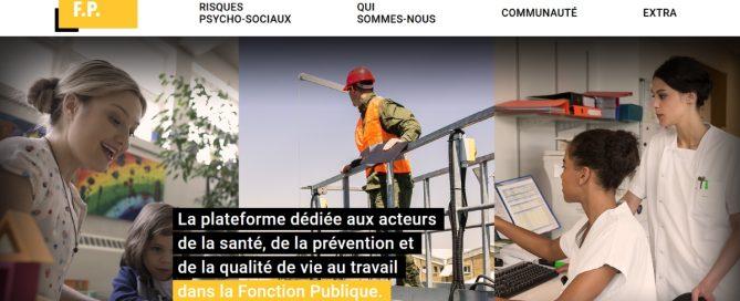 Capture d'écran de la plateforme santé au travail pour la fonction publique, lancée par l'Anact et la MGEN