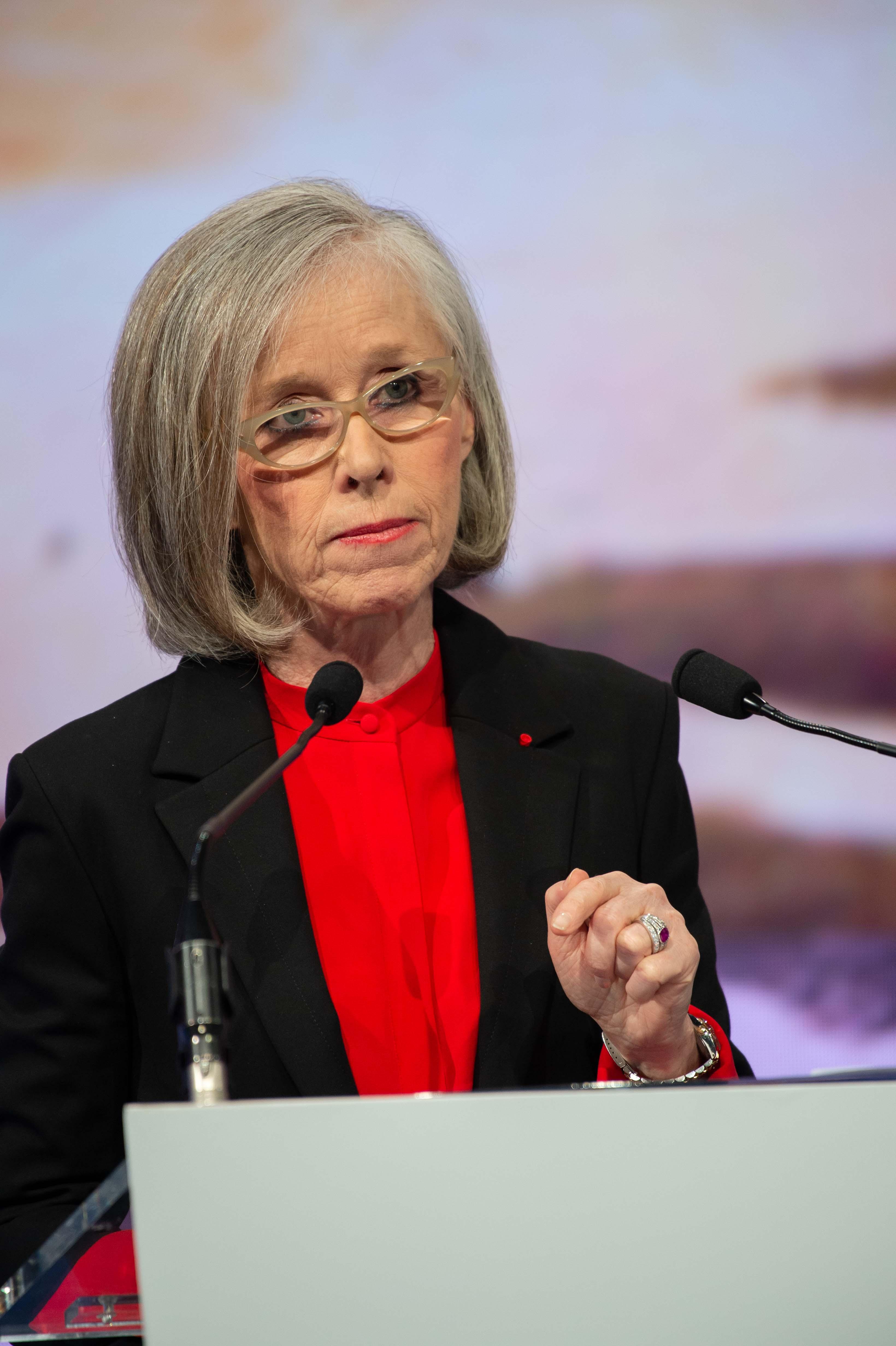 Brigitte Bouquot, président de l'AMRAE, l'association pour le management des risque et des assurances aux 2èe rencontres du risk management de Deauville (crédits AMRAE/artephoto)