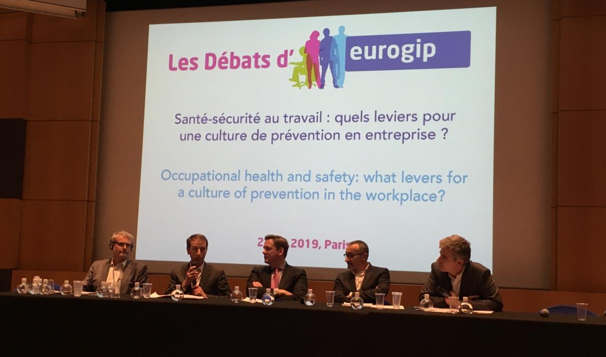 Débats Eurogip sur la culture de prévention santé et sécurité au travail. Photo GC/Face au Risque