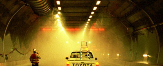 La Suède expérimente des sprinkleurs adaptables aux poids lourds dans les tunnels (Photo Wikimedia Commons)
