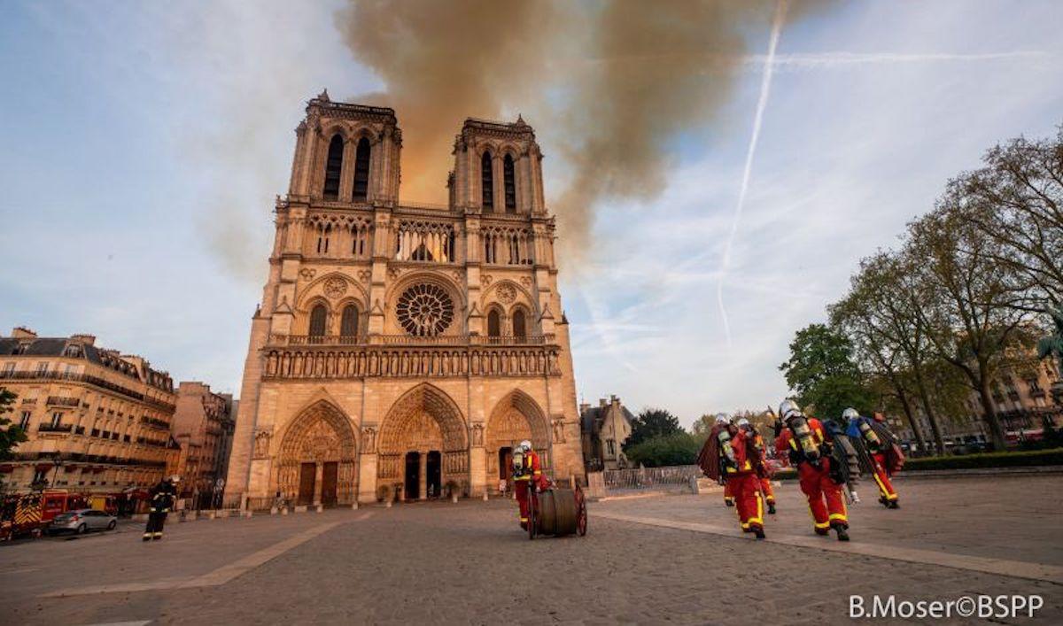 Incendie de Notre Dame les 10 leçons du drame, crédits photo B. Moser BSPP