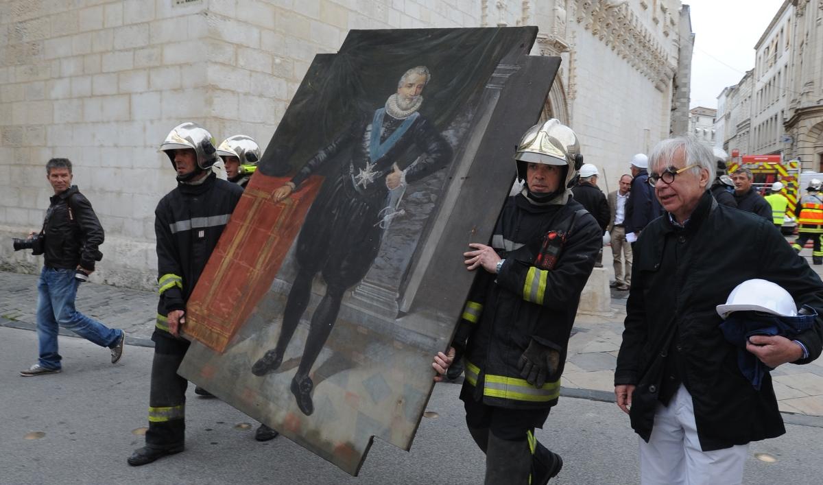 Plan de sauvegarde des biens culturels (PSBC), incendie La Rochelle.