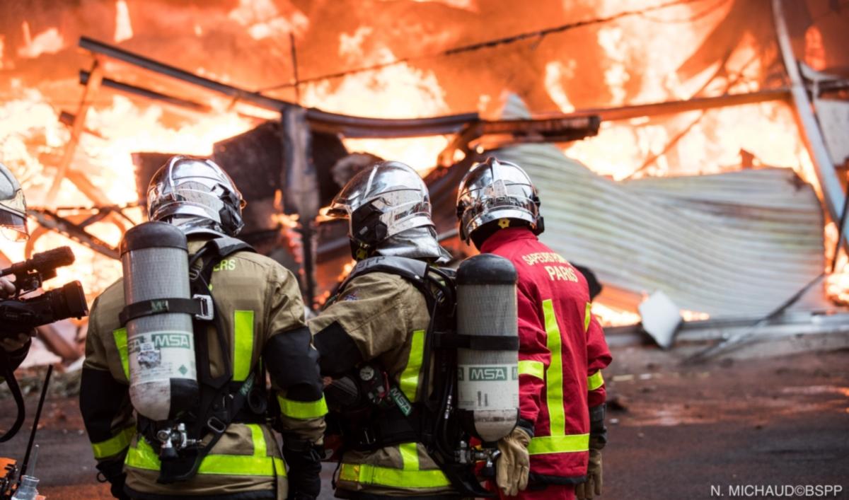 Violent incendie à Aubervilliers (Photo N.Michaud@BSPP)
