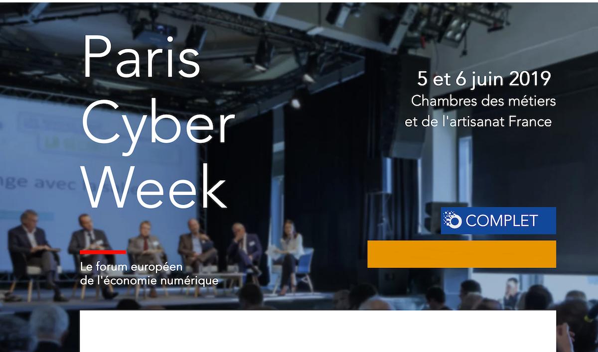 Paris Cyber Week identite confiance ecologie et assurance