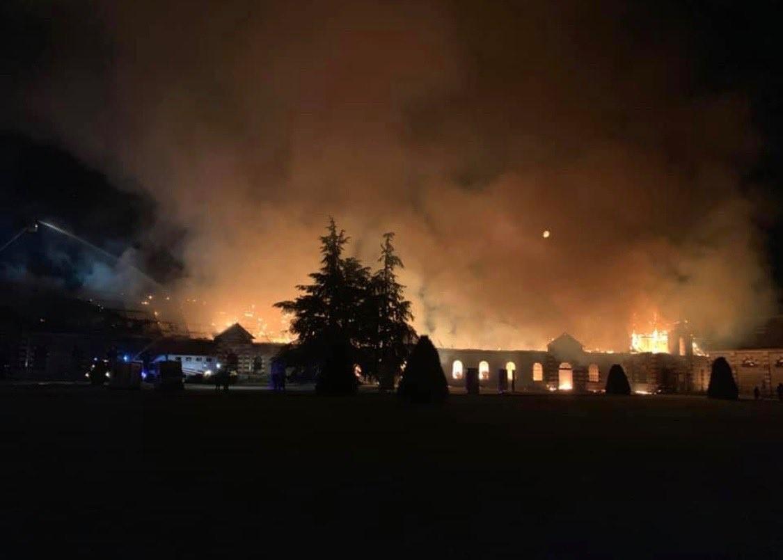 Incendie haras Saint-Lô (Photo Philippe Gosselin Twitter)