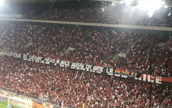 Banderole match OGC Nice - Marseille du 28 août 2019 (photo kevin heux twitter)