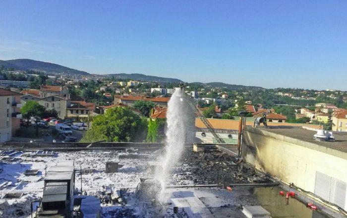 L'hôpital d'Annonay s'est vite remis des flammes (photo 1 CH d'Ardèche nord).