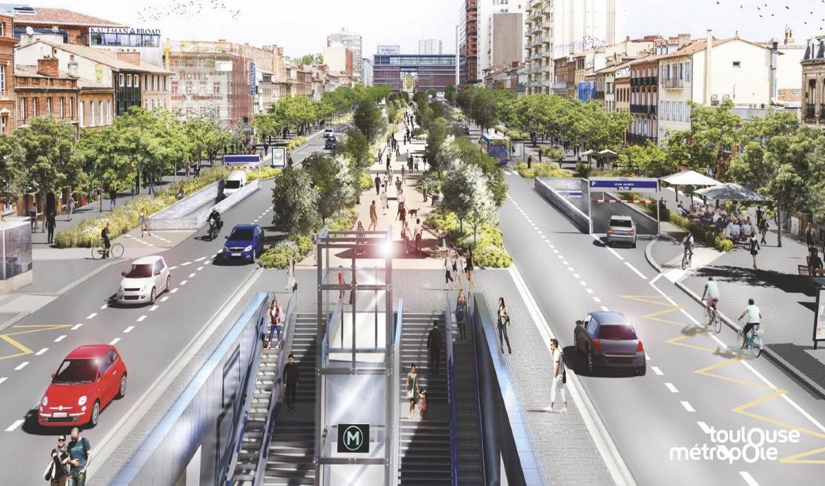 Réamènagement urbain et systèmes Lapi (Image Toulouse Métropole Twitter).