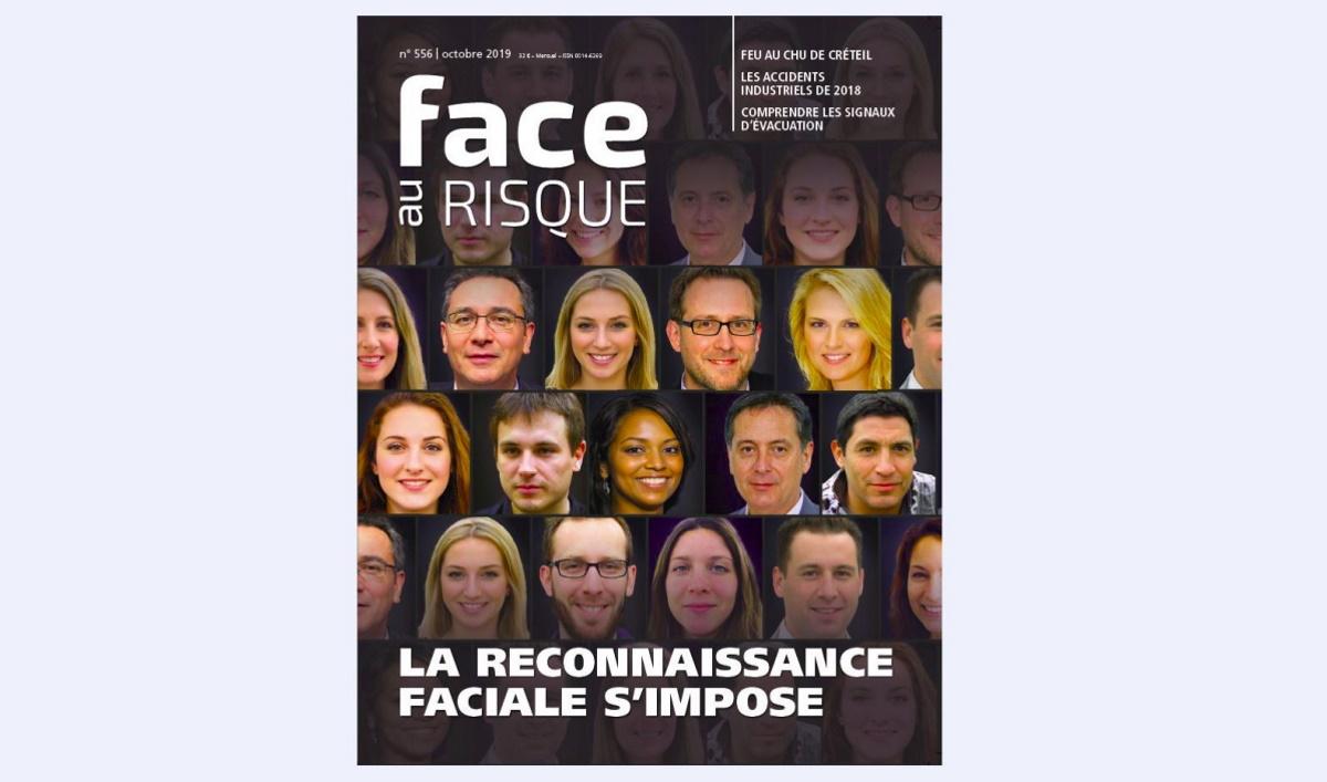 Reconnaissance faciale (Une du numéro 556 Face au Risque, octobre 2019).