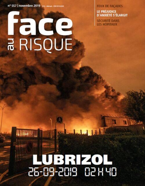 L'incendie de Lubrizol en Une du n°557 de Face au Risque.