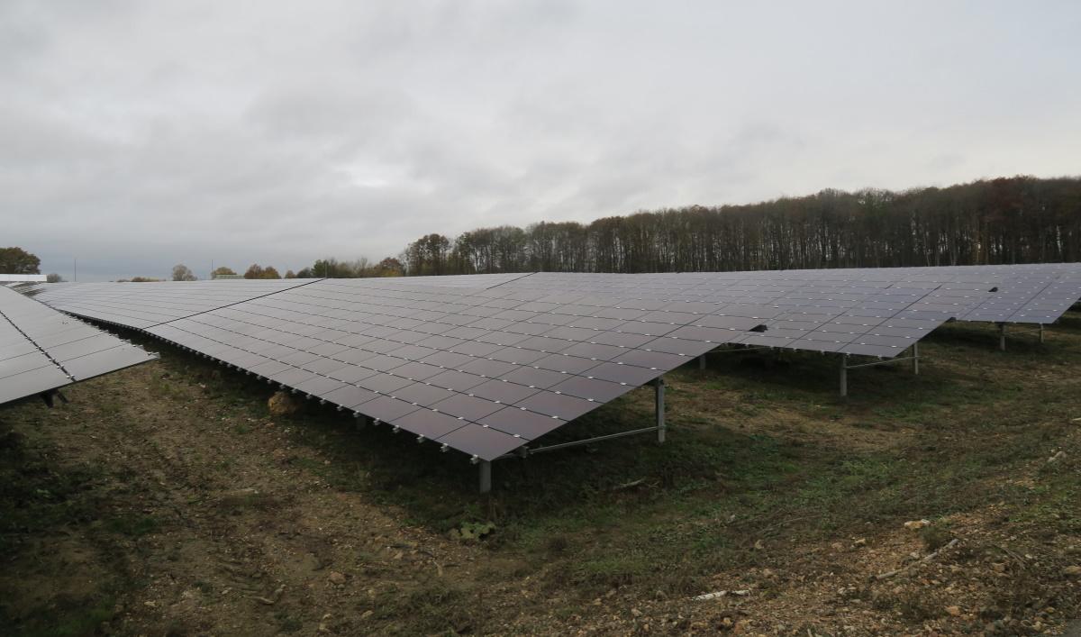 Champ photovoltaïque. (Photo CA - Face au Risque).