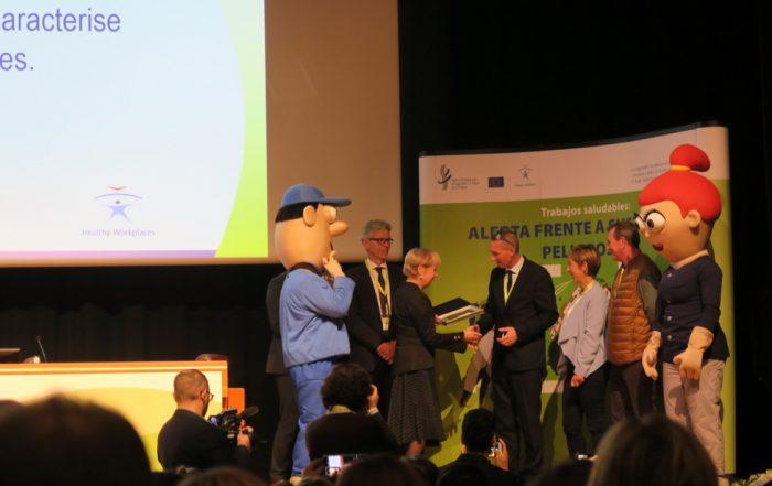 EU-OSHA Trophées Bonne pratique Eiffage Infrastructures 2019. (photo Eitel Mabouong / Face au Risque).
