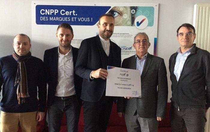Certification serrure connectée. (Crédits photo CNPP).