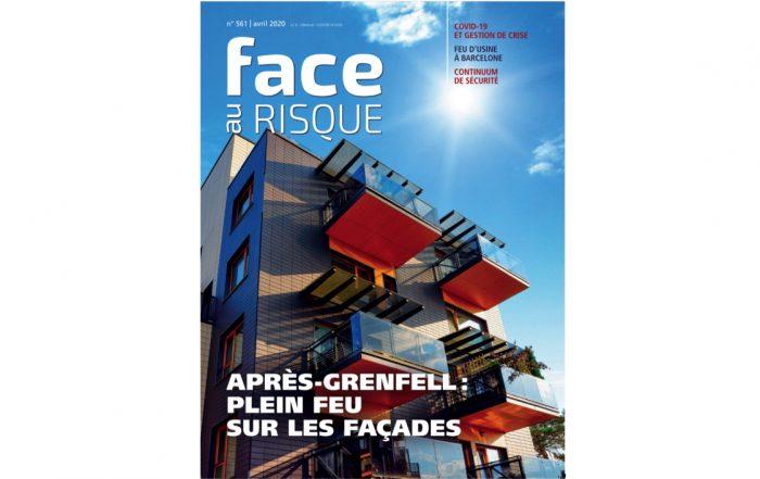Feux de façade, Une Face au Risque 561 avril 2020.