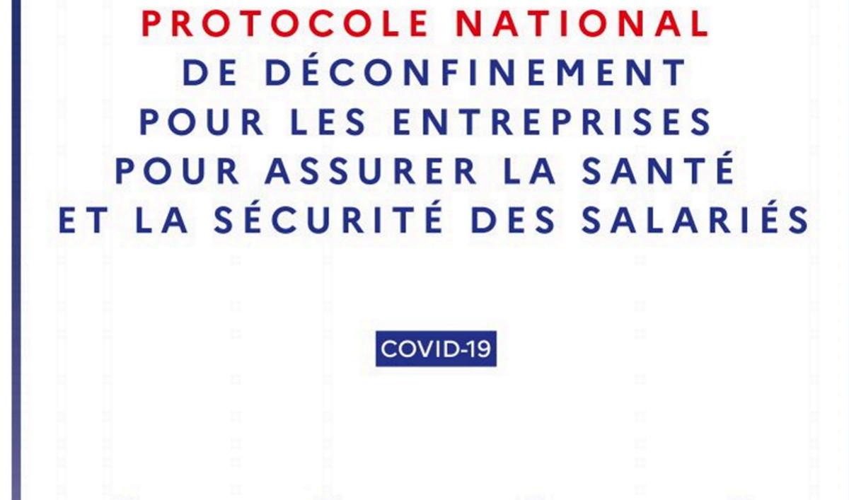 Vignette document Protocole national de déconfinement pour les salariés pour les entreprises pour assurer la santé et la sécurité des salariés