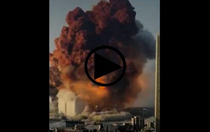 Explosion Beyrouth nitrate d'ammonuim (capture vidéo amateur Twitter).