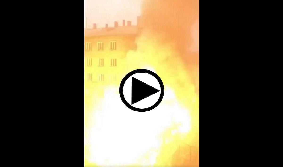 Explosion hôpital Covid-19 Russie (capture Twitter).
